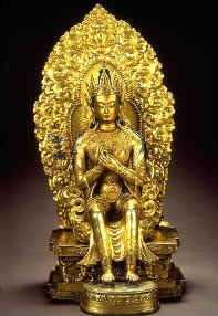 Une statue de Maitreya - bronze Ecole Zanabazar, 18e siècle Musée du temple Choijin